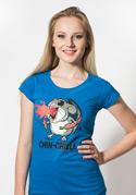 náhled - Chinchilli modré dámske tričko