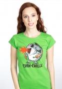 náhled - Chinchilli zelené dámske tričko
