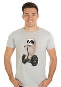 náhled - Leňoch šedé pánske tričko