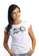 náhled - Správna matka biele dámske tričko