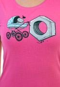 náhled - Správna matka fuchsiové dámske tričko