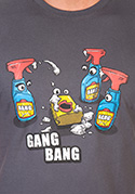 náhled - Gang Bang šedé pánske tričko