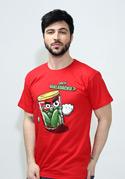 náhled - Nakládačka červené pánske tričko