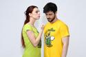 náhled - Nakládačka žlté pánske tričko
