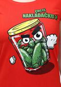 náhled - Nakládačka červené dámske tričko klasik