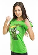 náhled - Nakládačka zelené dámske tričko