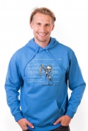 náhled - Modrá smrť pánska mikina