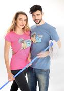 náhled - Mops fuchsiové dámske tričko