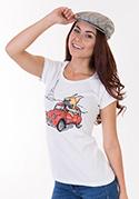 náhled - Francúzsky buldoček dámske tričko