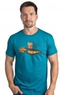 náhled - Krabičková dieta modré pánske tričko