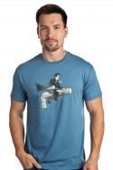 náhled - Harry na inbuse modré pánske tričko