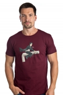 náhled - Harry na inbuse vínové pánske tričko