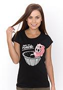 náhled - Ve formě čierne dámske tričko