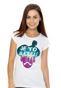 náhled - Je to rebel dámske tričko