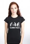 náhled - Oldies party čierné dámske tričko
