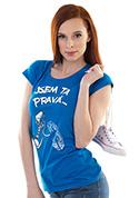 náhled - Jsem ta pravá modré dámske tričko