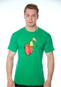 náhled - Kura na paprike pánske tričko