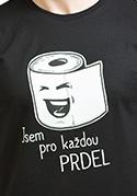 náhled - Prdel čierne pánske tričko