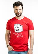 náhled - Prdel červené pánske tričko