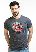 náhled - Slušnej oddíl šedé pánske tričko