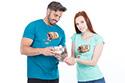 náhled - Music pills modré pánske tričko