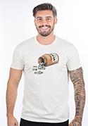 náhled - Music pills krémové pánske tričko