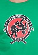 náhled - Slušnej oddíl zelené pánske tričko