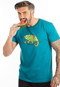 náhled - Chameloun modré pánske tričko