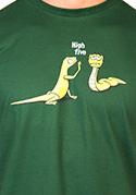 náhled - High Five zelené pánske tričko