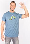 náhled - High Five modré pánske tričko