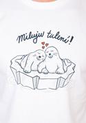 náhled - Miluju tulení biele pánske tričko