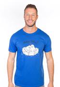 náhled - Miluju tulení modré pánske tričko