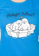 náhled - Miluju tulení modré dámske tričko