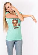 náhled - Momut zelené dámske tričko