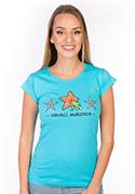 náhled - Vrhací hvězdice dámske tričko