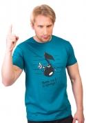 náhled - Tón modré pánske tričko