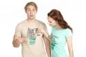 náhled - Sůva z nudlí hnedé pánske tričko
