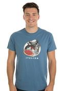 náhled - Italien modré pánske tričko