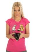 náhled - Kočka před výplatou dámske tričko