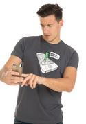 náhled - Wrong Apple šedé pánske tričko