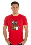 náhled - Strážcovia galaxie červené pánske tričko