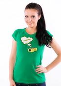 náhled - Strúhadlo zelené dámske tričko