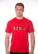 náhled - Opica červené pánske tričko