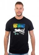 náhled - Tříděný odpad čierne pánske tričko