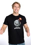 náhled - Mám se bombově čierne pánske tričko