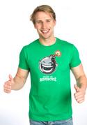 náhled - Mám se bombově zelené pánske tričko