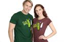 náhled - Fucking Robots zelené pánske tričko