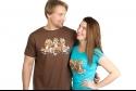 náhled - Trojnásobná opica dámske tričko