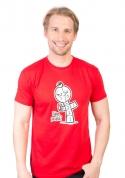 náhled - Dáme panáka červené pánske tričko