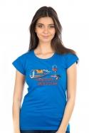 náhled - Zvrhlá modré dámske tričko